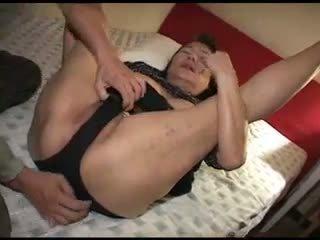 Follando japonesa caliente abuelita vídeo