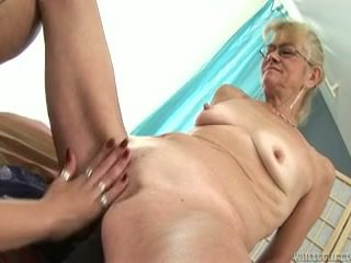 Teenaged Erotic Hoochie Appreciates Having Funtime Nearby Playthings In Grand Ma's Pussy
