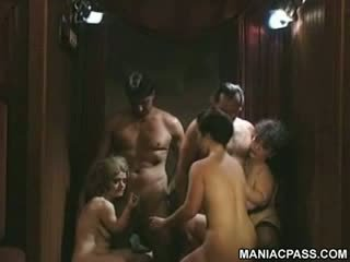 Crazy group orgy with midgets