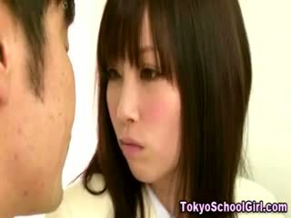 Japanese Asian Schoolgirl Tits Squeezed