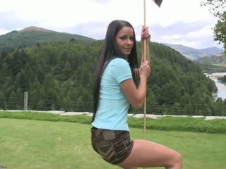 Flawless σώμα επί ο γκολφ πορεία.