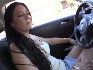 Driving fast to her glory hole or she will not be able to survive!