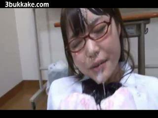 Asian Cum Bukkake Comilation with hot babes