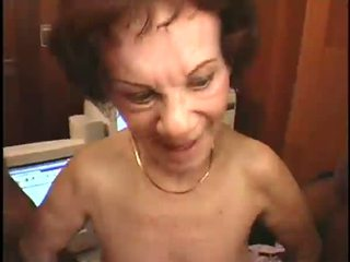 Mature old lady Fucks Two horny black Guys