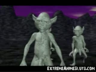 ทรีดี aliens บน a เจ้าหญิง!