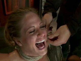 Elbows bundet knees på hård wood nipple suction neck rope breath spela ansikte knull gjort till cum