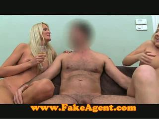 Two Sassy Blondies Are Pleasuring This Lucky Man