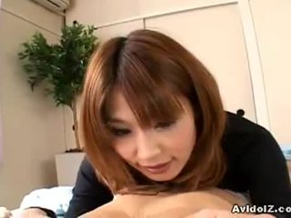 Japanese housewife ai kurosawa gives a great blowjob