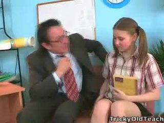 Irena Was Surprised This Her Teacher Has Such The Giant Dick.