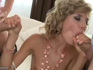 Sexy Blonde Gets Double Fucked