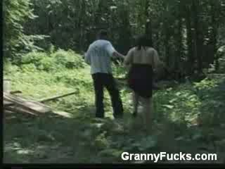 Busty Older Woman Gives Blowjob