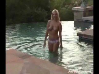Alison Angel Plays Inside The Pool