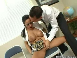 Breasty LaTina Angelina Valentine Takes A Large Hard Meat Cock On Her Mouth