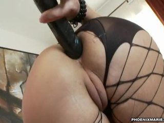 Hot Biggest Assed Hawttie Phoenix Marie Plugs Her Favourite Toy In Her Moist Hole