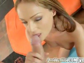 Sophie lynx gets anal kacau dan swallows air mani