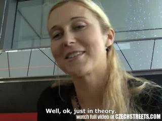 CZECH STREETS - Blonde MILF Picked up on Street Video