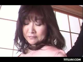 Sex Starved Japanese Tramp Flaunting Her Huge Tits And