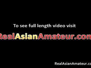 Asiática nymph anal got laid mientras jugando su hombre