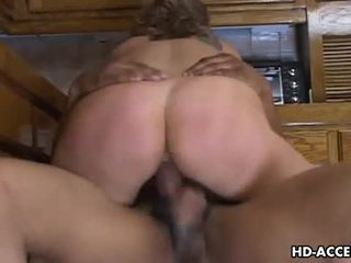 Kayla quinn's cock ride in the kitchen