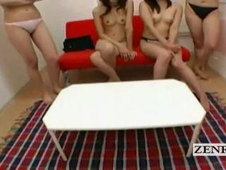 Subtitled Pov Japanese College Dorm Harem Teasing