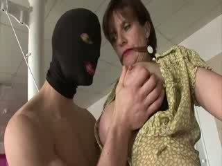 Mature english Escort tied up and teased