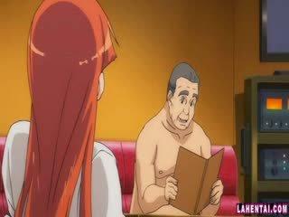 Hentai laska slammed przez starszych człowiek