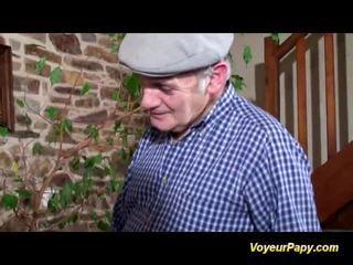 Papy shaggs nymph sa pangtatluhang pagtatalik