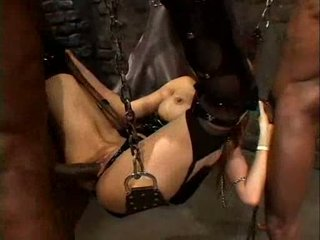 Asian freak Double Dips In The Dungeon Video