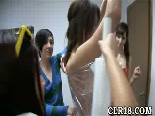Horny college babes show