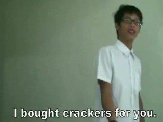 Thai Twinks Play \'cum On Crackers\'