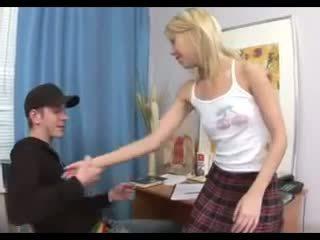 orgasme, schoolmeisje