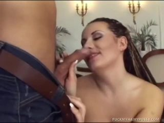 Watch As KatErina's Hairy Honey Pot Takes A Pounding