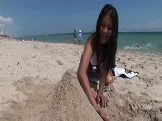 My Thai girl on the beach
