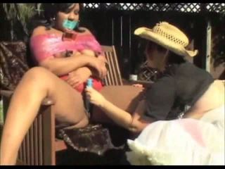 Outdoor Lesbian Big Gorgeous Woman Fetish Masturbation