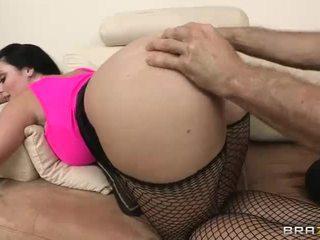 tốt nhất brunette nhất, lý tưởng fishnets, bất kỳ ass fucking đẹp
