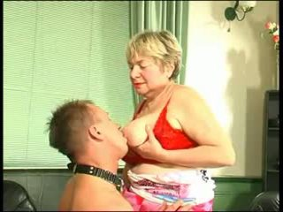 Russian Granny with NOT her Son Slave