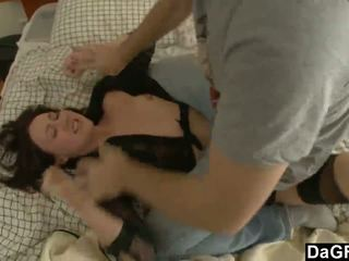 brunette, small-tits, spanked