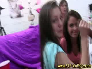Watch real college chicks get a jizz shot