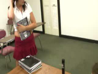 Naughty model spoiling her teacher