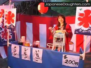 jeune, japonais, rugueux, fille