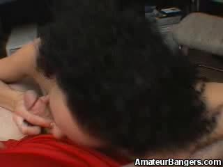 Curly Rookie Pussy Puts That Dick In Her Mouth