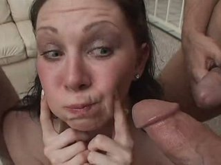 Swallowing cum Video