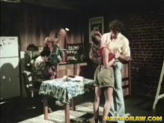 Kitchen Foursome Retro Xxx Film