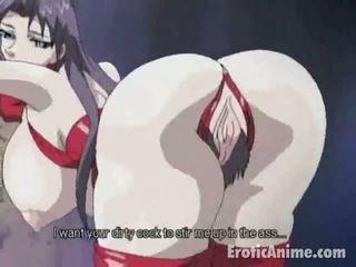 Charming bruneta manga