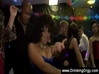 group Old Man interracial Euro group party cfnm