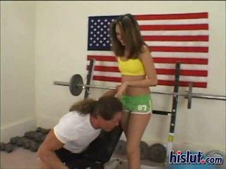 Jenny gets a workout
