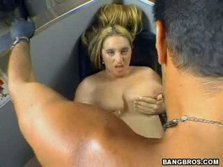April Mckenzie Acquires Sprayed With A Fresh Jizzload On Her Gigantic Boosofa
