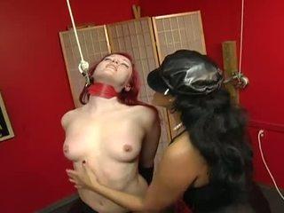 Porner premium jon r: 赤毛 ベイブ slaved バイ 彼女の マスター