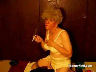 smoking, crossdresser, mature