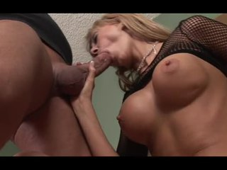 Horny blonde fucked hard by the big cock